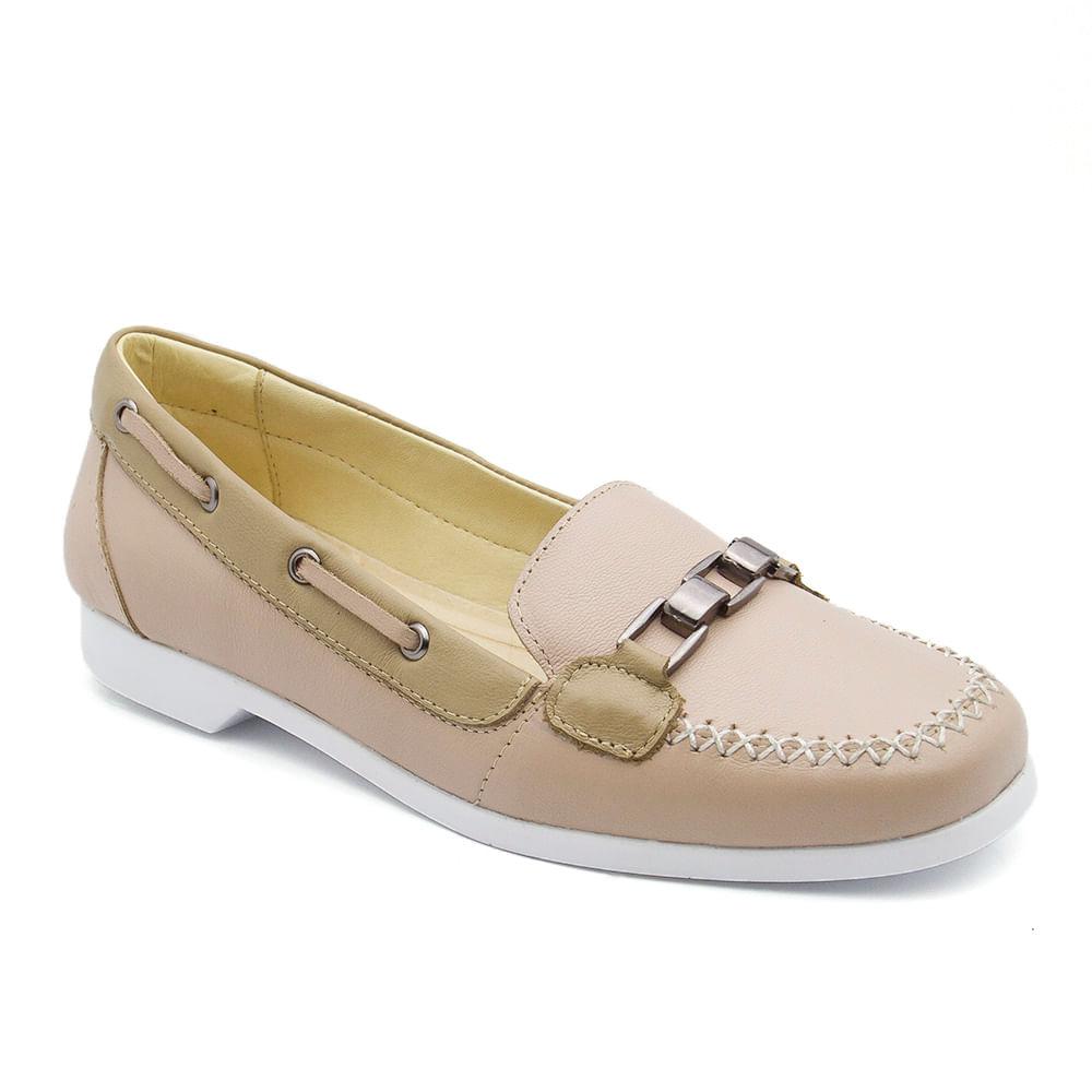5ea068ffaf Dockside Feminino 509 Baunilha Bambu Donna Comfort - Doctor Shoes