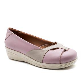 f2c12756c Sapato Feminino Anabela 194 em Couro Rosa2 Marfim Doctor Shoes