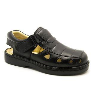 50e81973a2c Sandália Masculina 302 em Couro Floater Preto Doctor Shoes