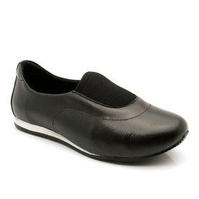 e5224e52a5 Sapatênis Feminino 604 em Couro Preto Techprene Preto Doctor Shoes