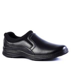 bcf5027e25 Sapato Masculino 9729 em Couro Floater Preto Techprene Preto Doctor Shoes
