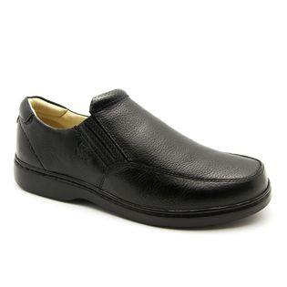 5e3a3134d4 Sapato Masculino 410 em Couro Floater Preto Doctor Shoes