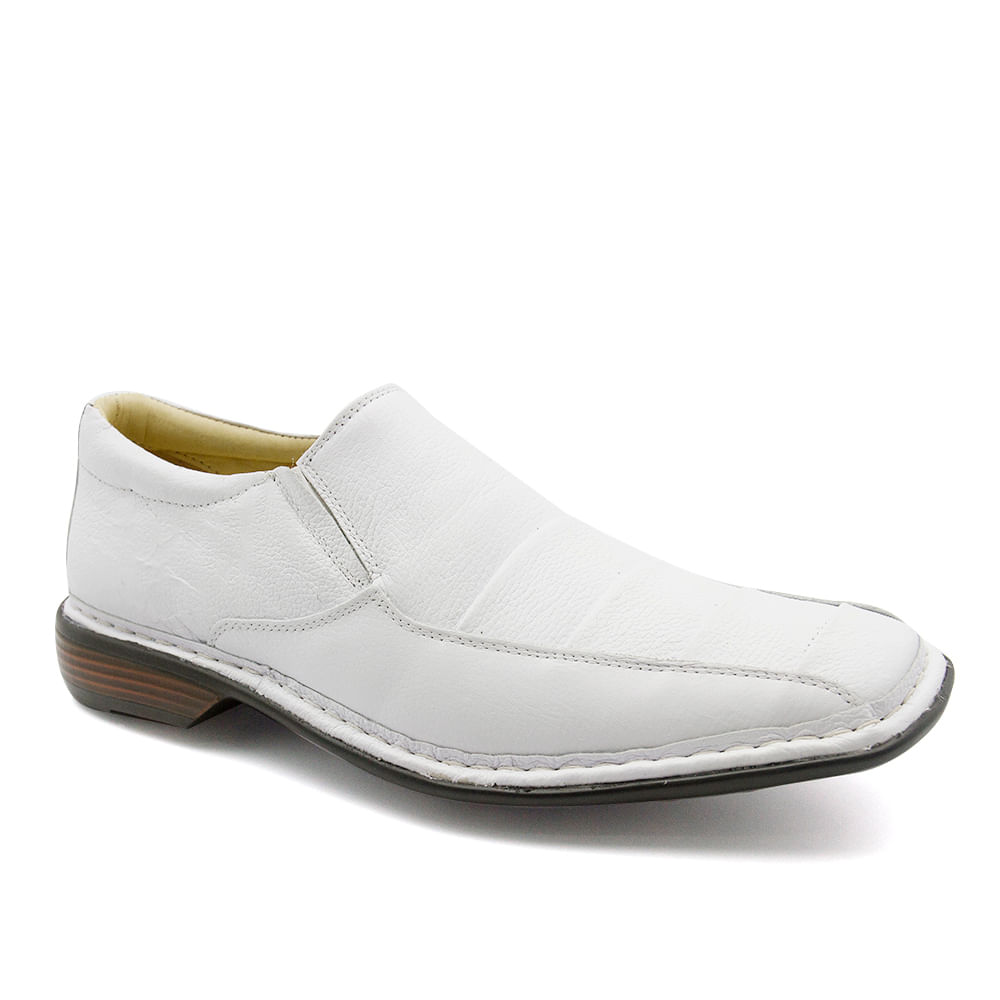 303d8b3c1 Sapato Masculino 3023 em Couro Floater Branco Doctor Shoes - Doctor Shoes
