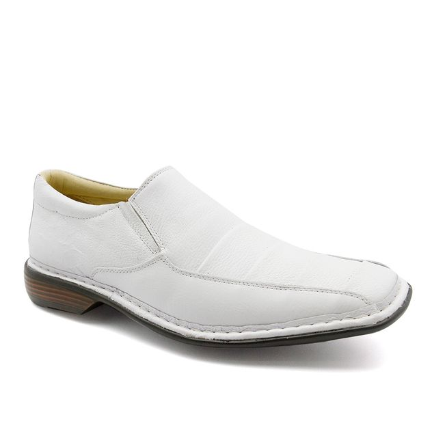 5245621f26 Sapato Masculino 3023 em Couro Floater Branco Doctor Shoes - Doctor Shoes