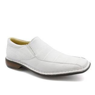 98f0b6601 Sapato Masculino 3023 em Couro Floater Branco Doctor Shoes