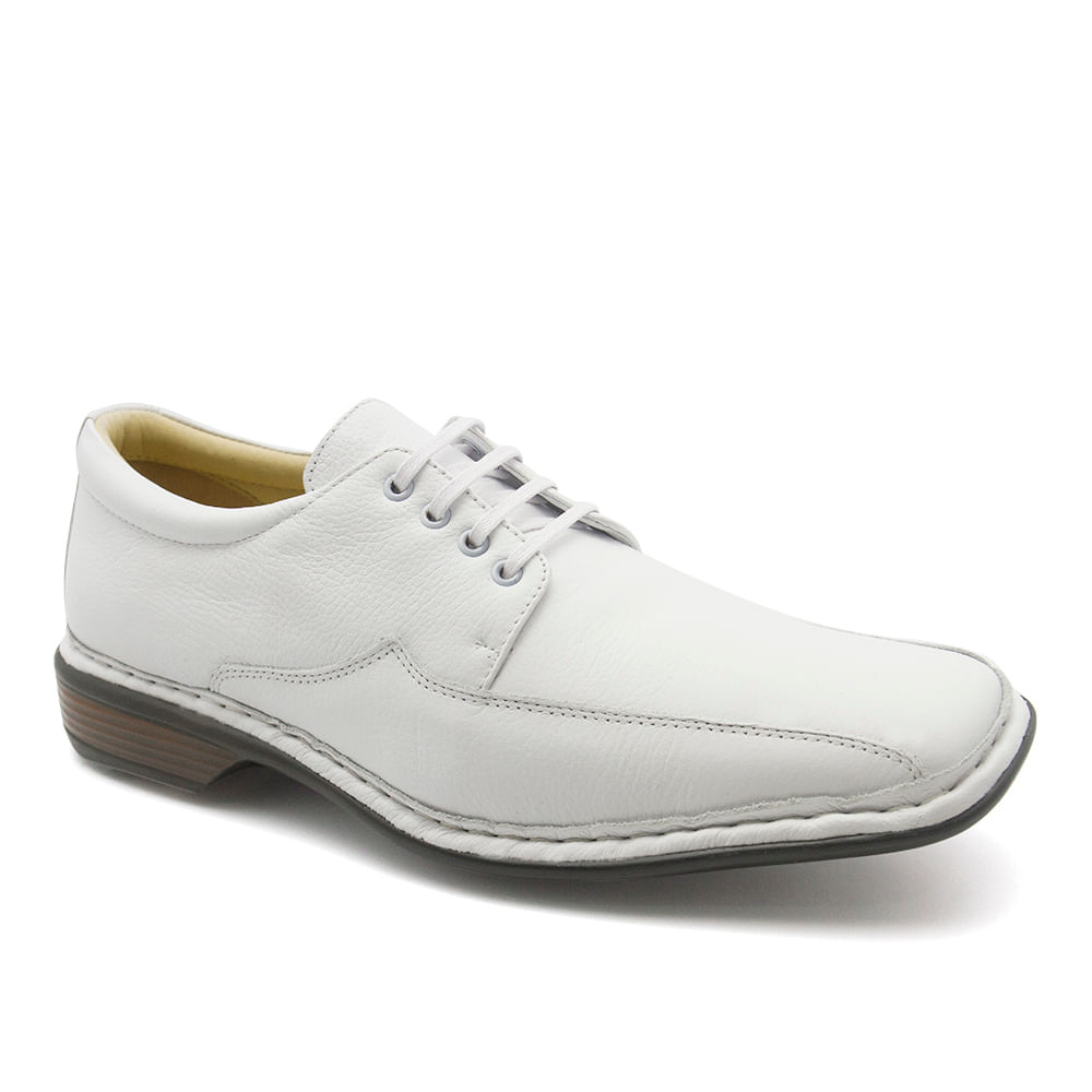 531440ef1 Sapato Masculino 3026 em Couro Floater Branco Doctor Shoes - Doctor ...