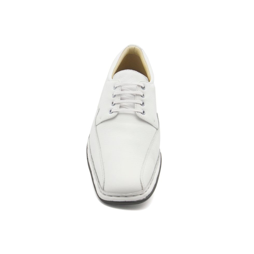 e255d309ae Sapato Masculino 3026 em Couro Floater Branco Doctor Shoes - Doctor ...