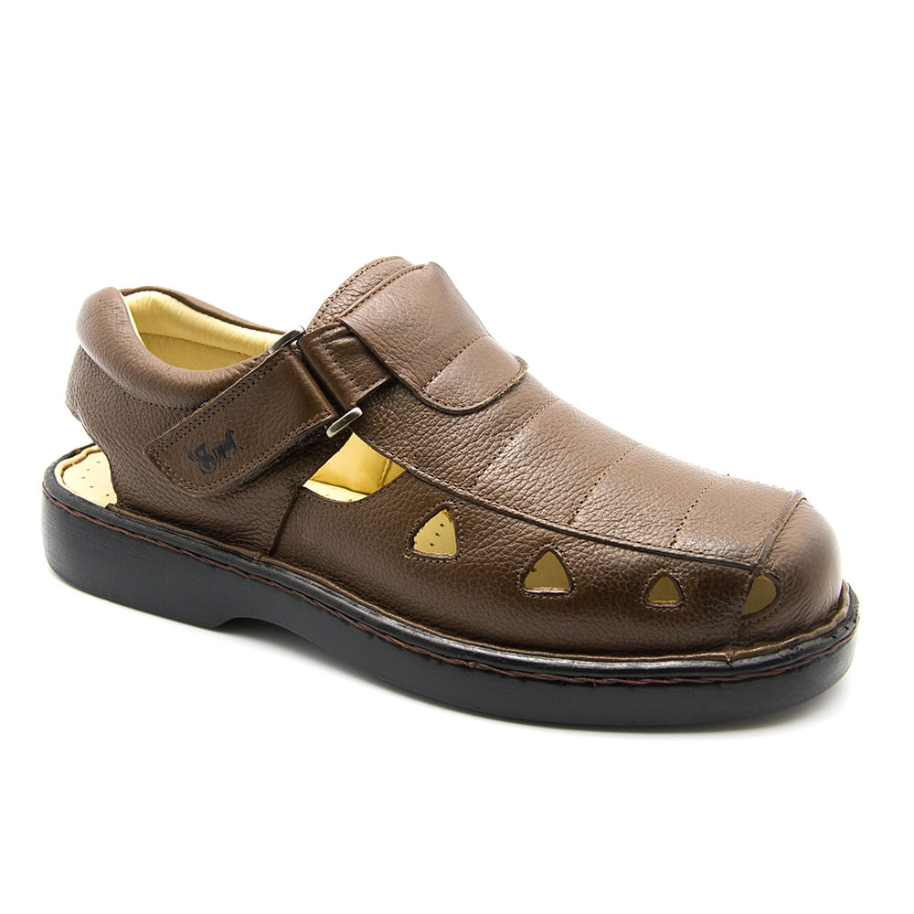 f664d7b6c7 Sandália Masculina 302 em Couro Floater Tabaco Doctor Shoes