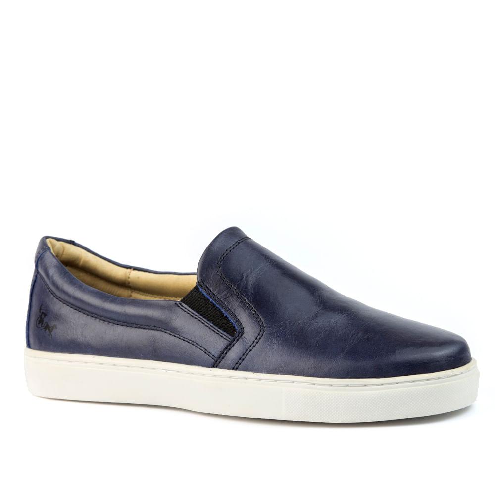 60deeadcf01 Sapatênis Masculino 4048 em Couro Vecchio Petroleo Doctor Shoes ...