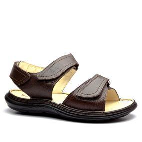 ae43659e5 Sandália Masculina 917301 em Couro Floater Chocolate Doctor Shoes