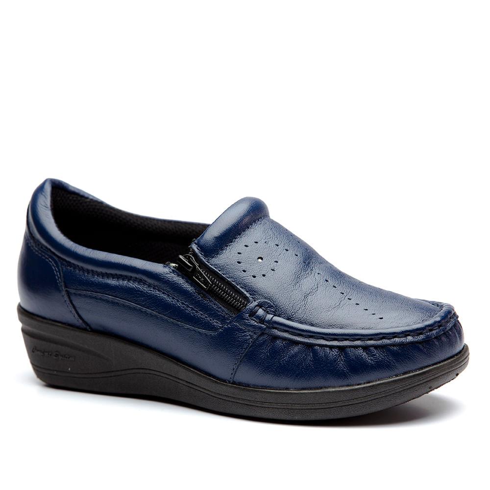 01ae1167d5def Mocassim Feminino 200 em Couro Petroleo Doctor Shoes - Doctor Shoes