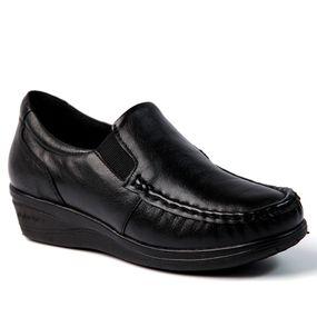 3416079f26 Mocassim Feminino 184 em Couro Marinho Doctor Shoes - Doctor Shoes