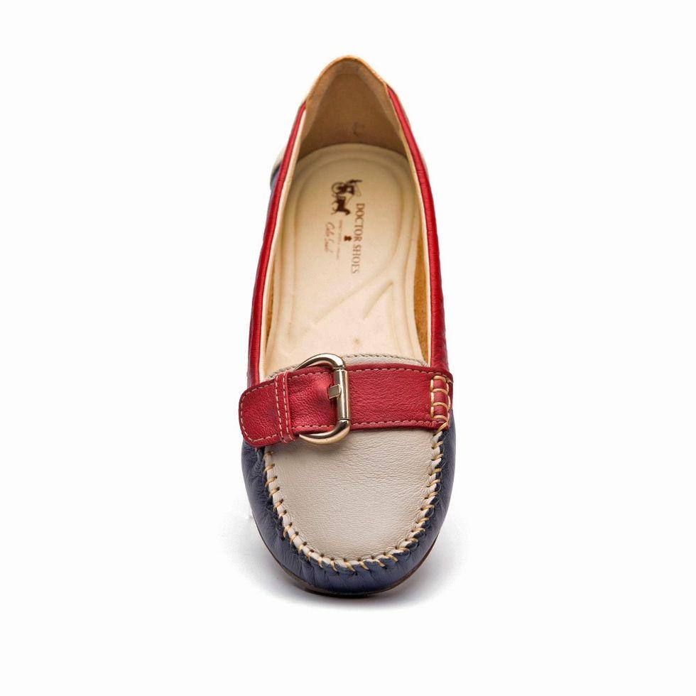 3fb9325951 Mocassim Feminino 1303 em Couro Petroleo Neve Framboesa Doctor Shoes ...