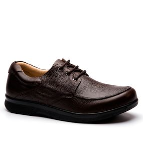 40e64de1bc Sapato Masculino 3050 em Couro Floater Brown Doctor Shoes