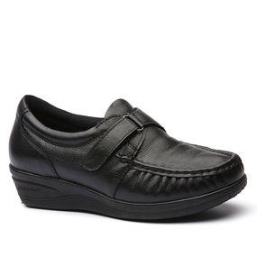256dbe0ec7 Mocassim Feminino Anabela 182 em Couro Preto Doctor Shoes - Doctor Shoes