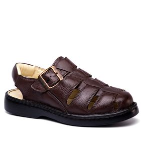 3c5b36ec4b Sandália Masculina 308 em Couro Floater Café Doctor Shoes