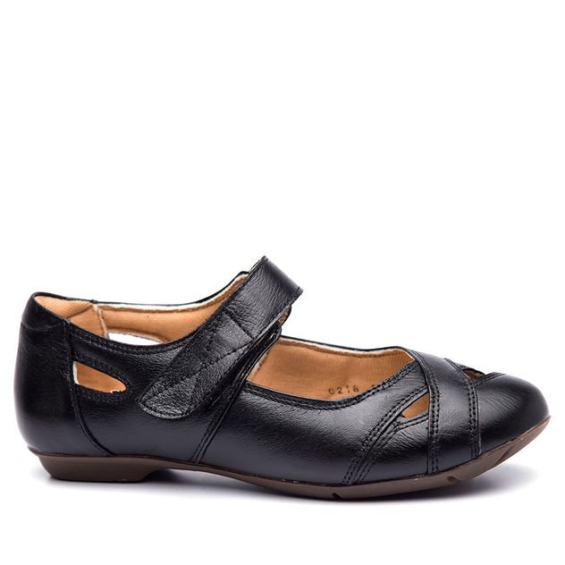 7a9818ea64 Sapatilha Feminina 1298 em Couro Preto Doctor Shoes - Doctor Shoes