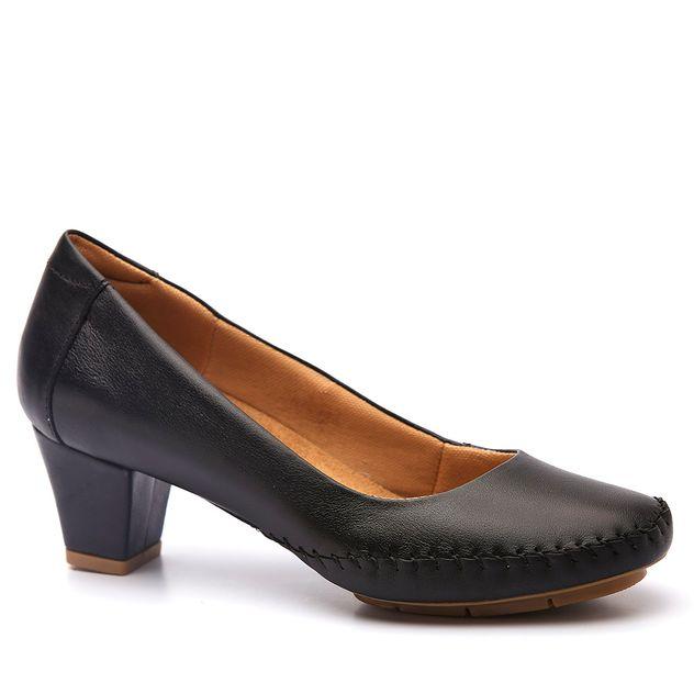 0d7d33115b Sapato Feminino 791 em Couro Preto Doctor Shoes - Doctor Shoes