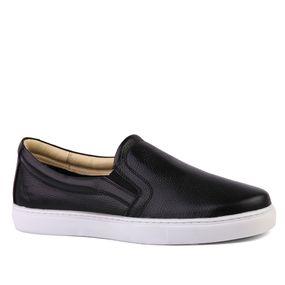 f377e2a9b5 Sapatênis Masculino 4048 em Couro Floater Preto Doctor Shoes