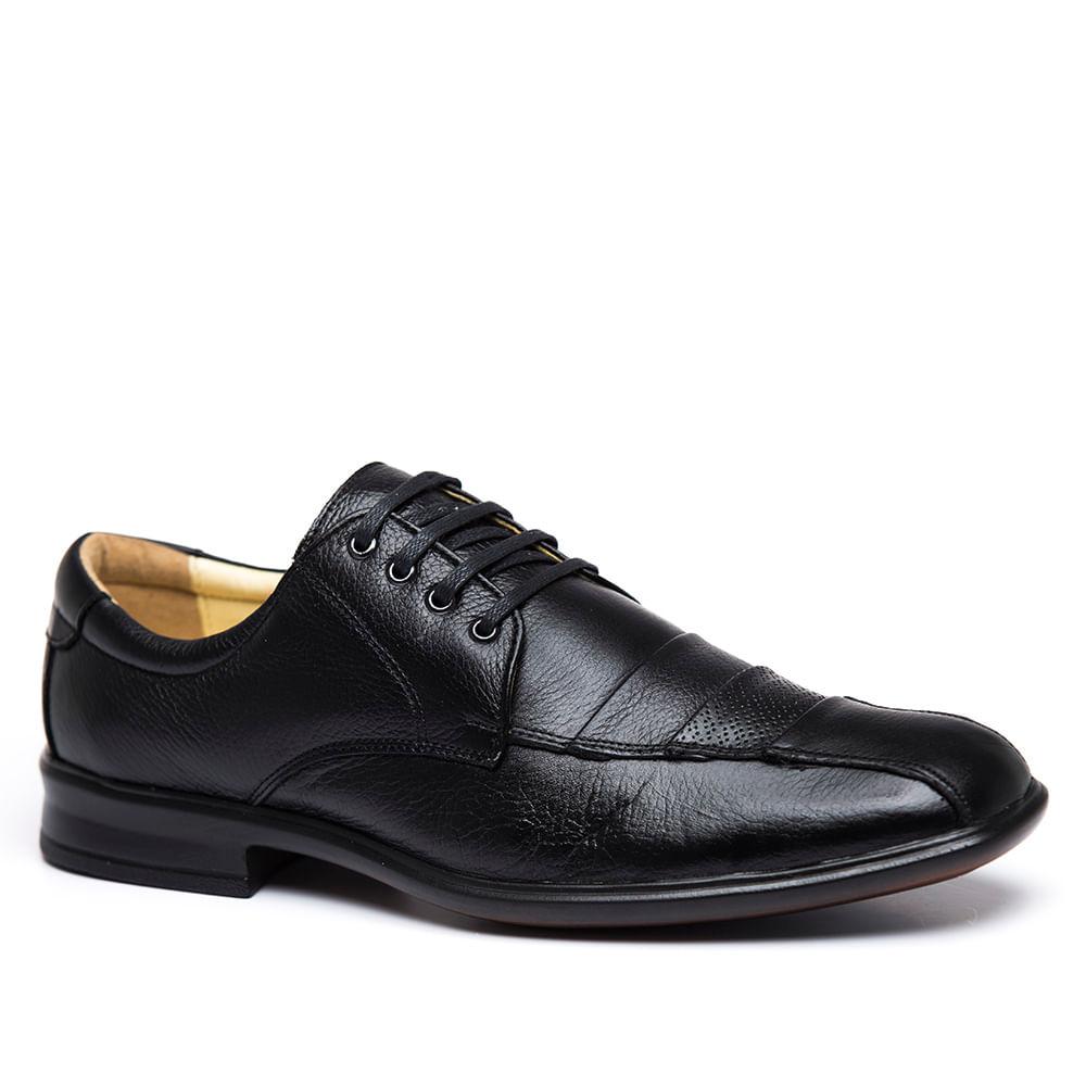 b077e9e6e Sapato Masculino Social 486602 em Couro Floater Preto Doctor Shoes ...