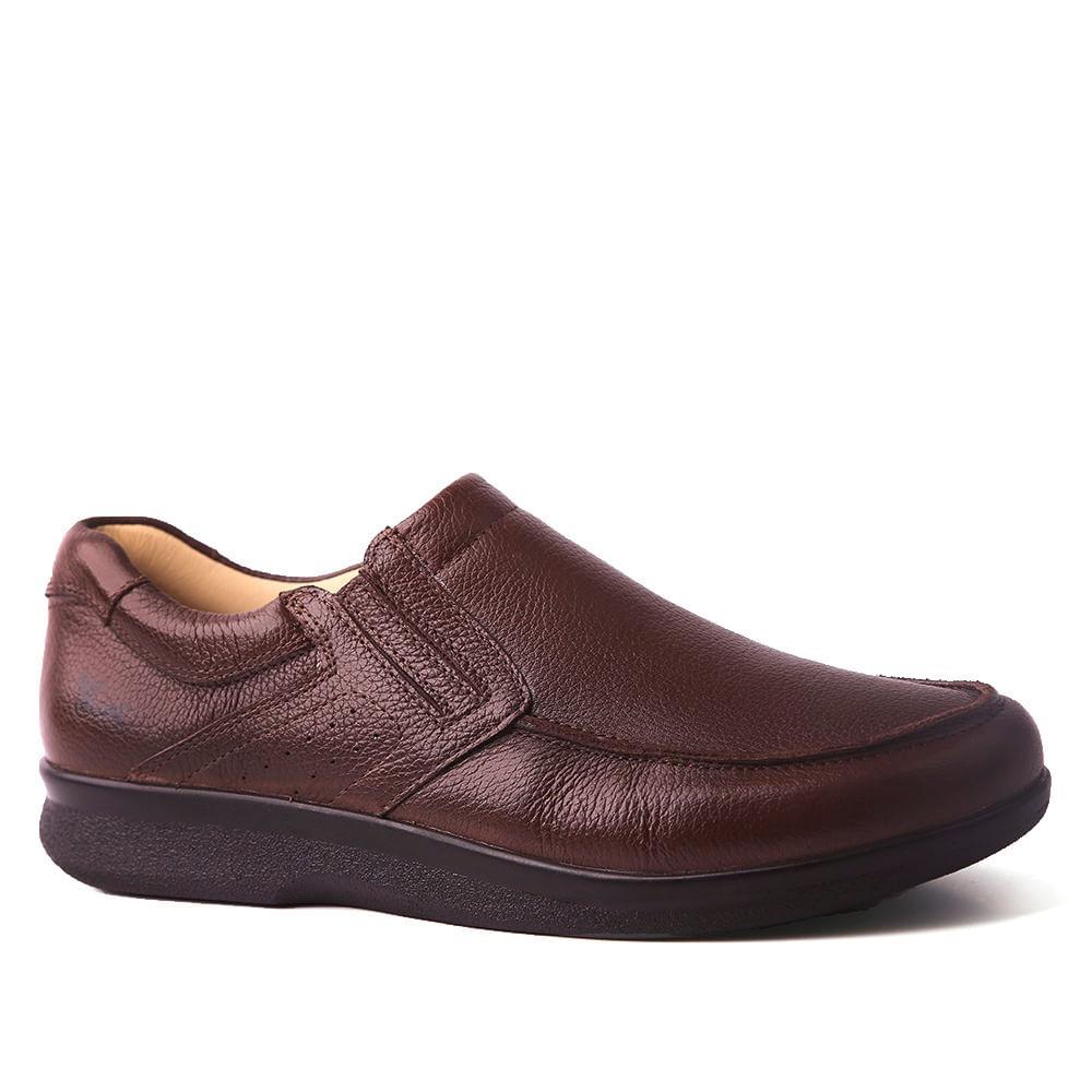 68091fc9de324 Sapato Masculino 3051 em Couro Floater Café Doctor Shoes - Doctor Shoes