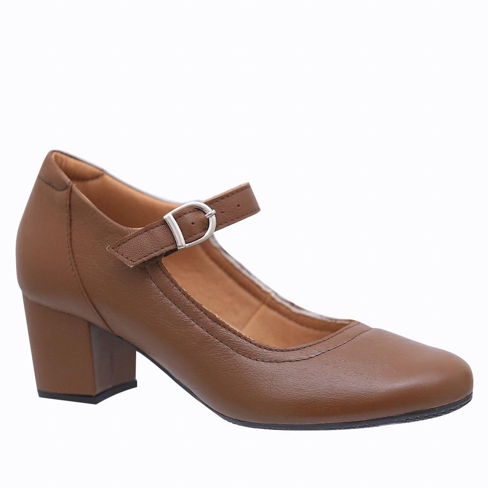 c341e9d193061 Sapato Feminino 287 em Couro Capuccino Doctor Shoes. Ref.: 287-CAP.  ffd1864d-4ef5-4652-976f-6dc07c189aa3