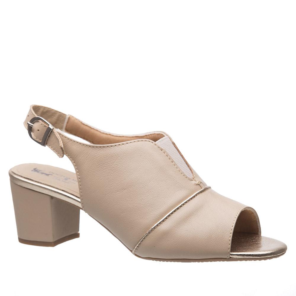 2e7375a4a Sandália Feminina 285 em Couro Ostra Metalizado Glacê Doctor Shoes ...