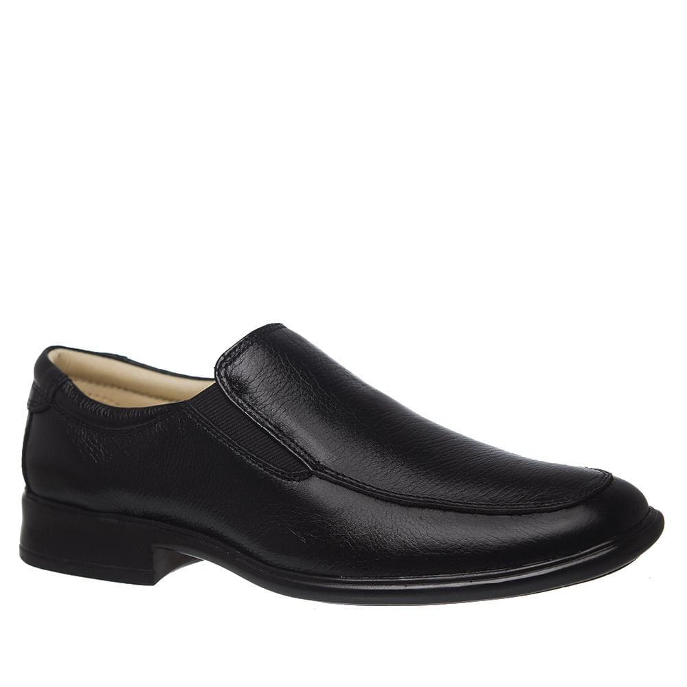 fa7955ed2c Sapato Social Masculino 486604 em Couro Floater Preto Doctor Shoes ...
