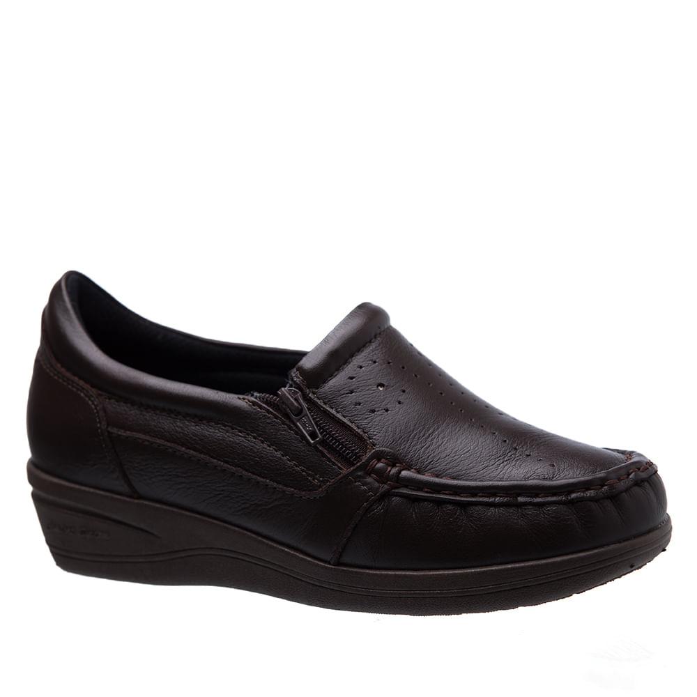 22f0ec8a4 Mocassim Feminino Esporão 200 em Couro Café Doctor Shoes - Doctor Shoes