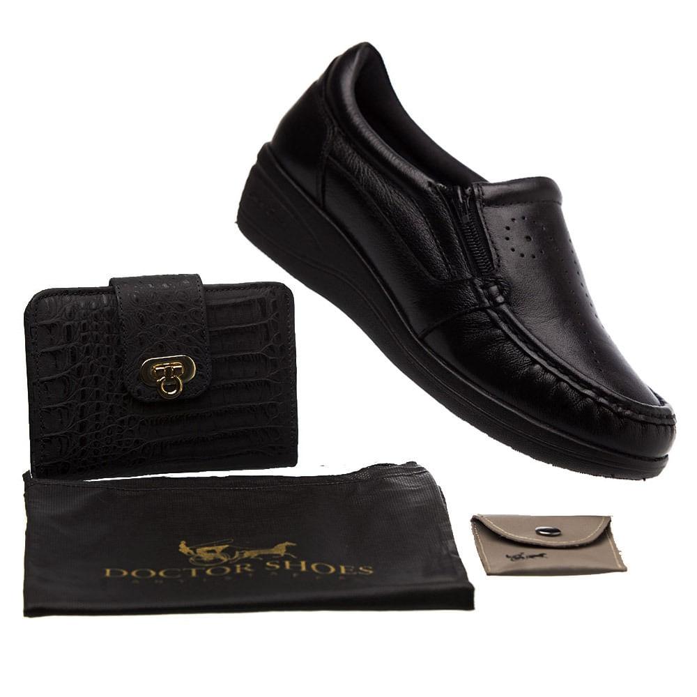 bfdd1a8dfb Kit Feminino Sapato 200 Preto+ Carteira + Porta Sapato TNT + Porta Moedas Doctor  Shoes - Doctor Shoes