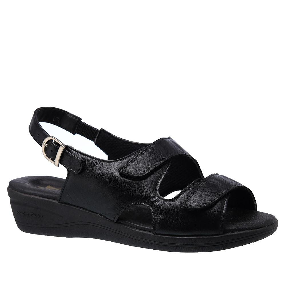 4ce99e241 Sandália Feminina Esporão em Couro Preto 7999 Doctor Shoes - Doctor ...