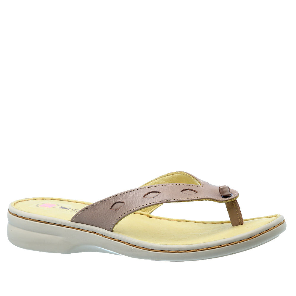a9553b1bb7 Chinelo Feminino 226M em Couro Ocre Doctor Shoes - Doctor Shoes