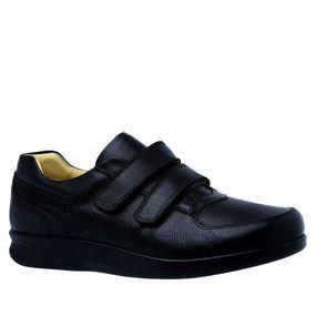 c3cfe445b Sapato Masculino Diabético em Couro Preto Floater 3058 Doctor Shoes ...