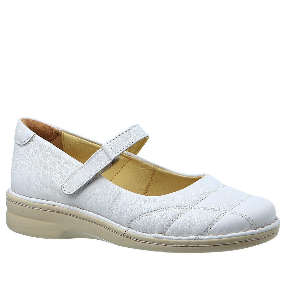 8398094abe Sapatilha Feminina em Couro Branco 222M Doctor Shoes - Doctor Shoes