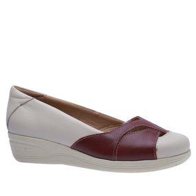 e50aa40af Sapato Feminino Anabela em Couro Off White Amora 194 Doctor Shoes