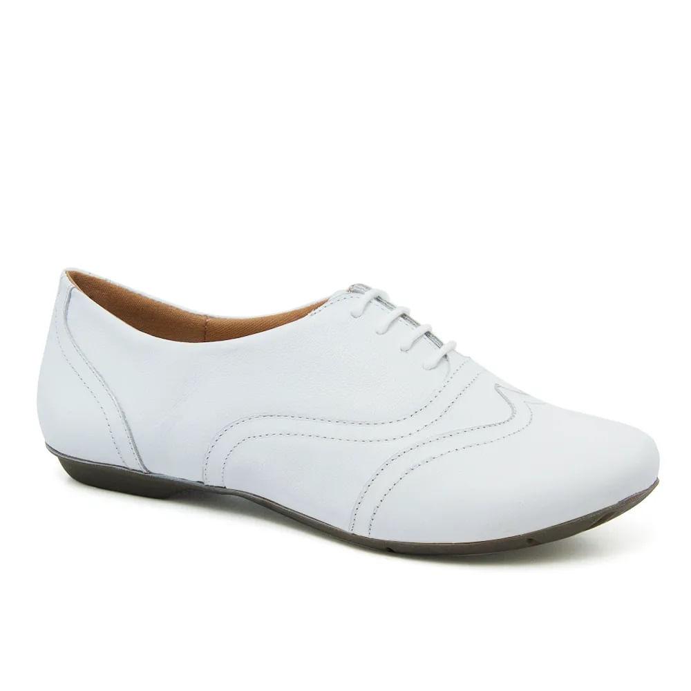488b4774eb Sapato Feminino 1307 em Couro Branco Doctor Shoes - Doctor Shoes