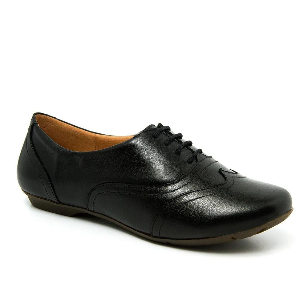 8d32bb5d0f Sapato Feminino 1307 em Couro Preto Doctor Shoes - Doctor Shoes