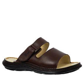 Chinelo Masculino em Couro Café Floater 917305 Doctor Shoes 9ecda72224