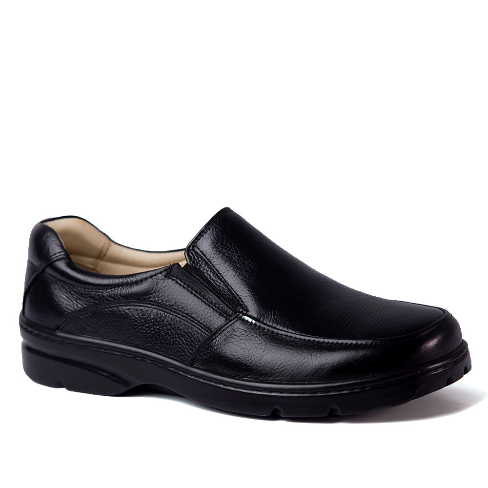 ca0244f2b Sapato Masculino 5300 em Couro Floater Preto Doctor Shoes - Doctor Shoes