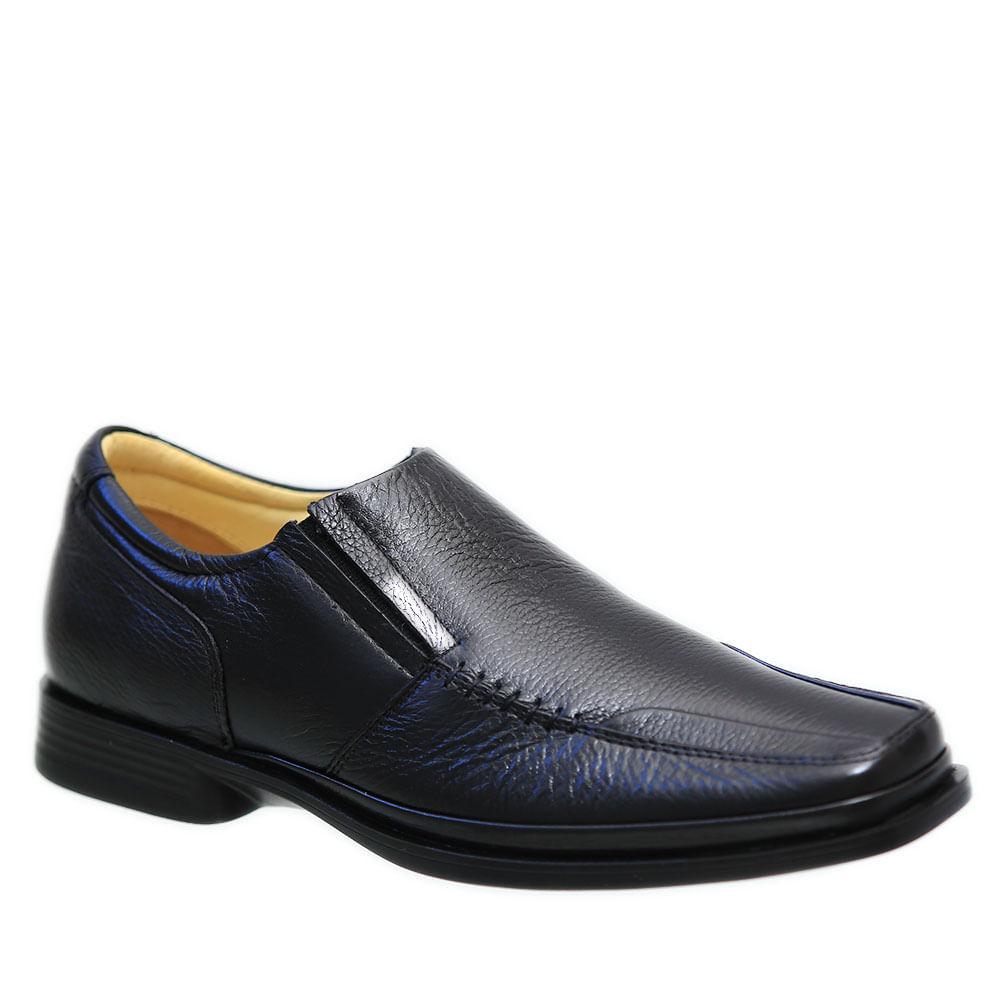 77312b0fb Sapato Masculino Anti Impacto em Couro Floater Preto 549201 Doctor Shoes.  Ref.: 549201-PTO. Vídeo. https---s3-sa-east-1.amazonaws.com-