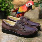 8ed20444b Sapato Masculino Diabético em Couro Café Floater 3057 Doctor Shoes ...
