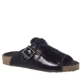 20b4c1abc Sandália Feminina Birks em Couro Verniz Preto 216 Doctor Shoes