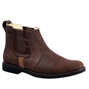 514c07d41c Botina Masculina Gel Anatômica em Couro Graxo Café/Brand 8613 Doctor Shoes