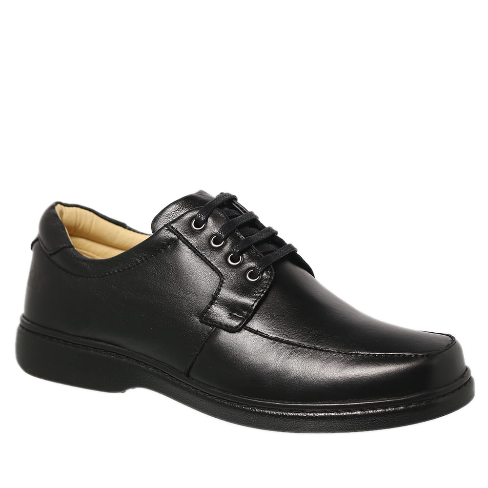 06abb8207 Sapato Masculino 414 em Couro Floater Preto Doctor Shoes - Doctor Shoes