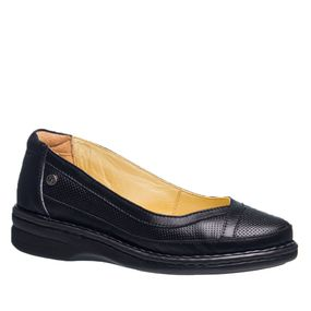 0b2199a288 Sapato Feminino Especial Neuroma de Morton em Couro Preto 377 Doctor Shoes
