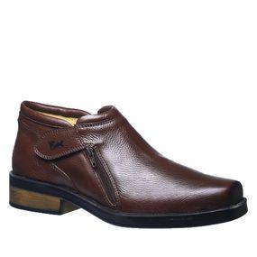 6e6bcb13e Botina Masculina Urbana Gel Anatômico em Couro Café Floater 8825 Doctor  Shoes