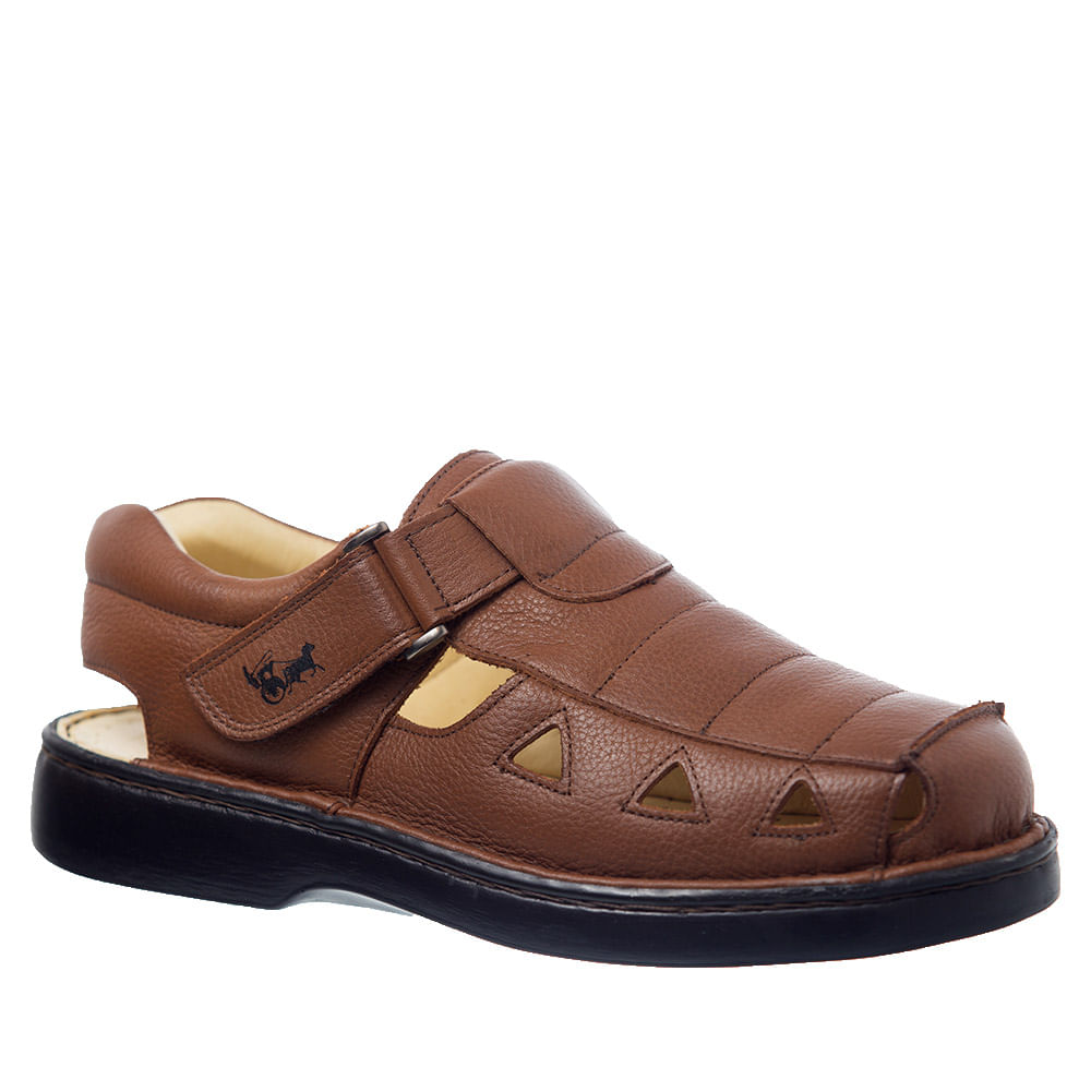 c1be9e828 Sandália Masculina 302 em Couro Floater Whisky Doctor Shoes - Doctor Shoes