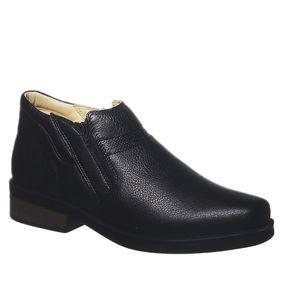 63cec80de Botina Masculina Urbana Gel Anatômico em Couro Floater Preto 8826 Doctor  Shoes