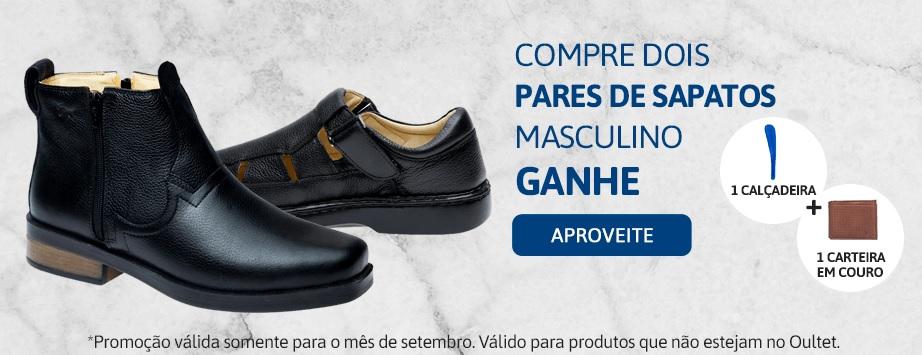 Promoção setembro compre 2 pares de sapato e ganhe brindes - Masculino 1