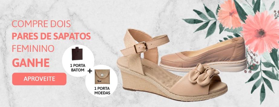 Promoção setembro compre 2 pares de sapato e ganhe brindes - Feminino 1